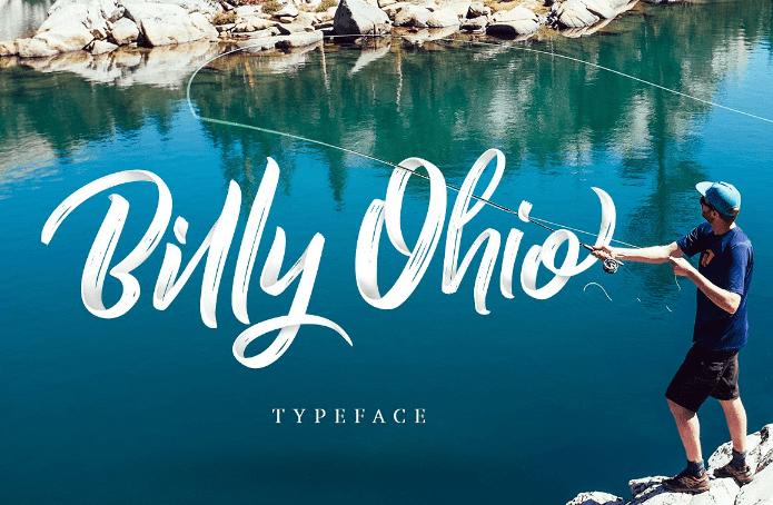 Billy Ohio Free Brush Script Font Responsive Joomla And