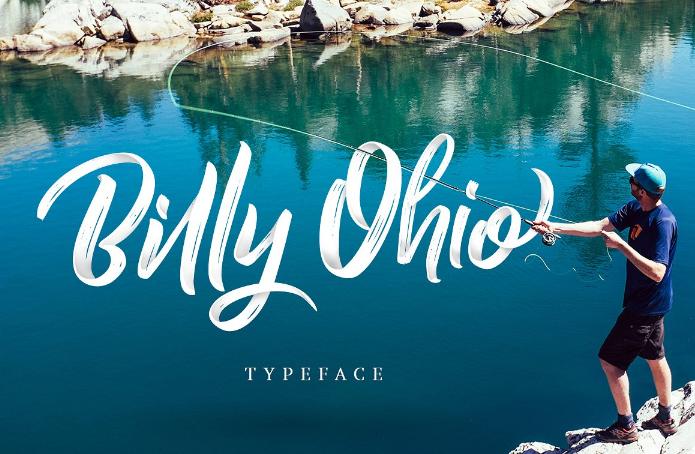 Billy Ohio Free Brush Script Font