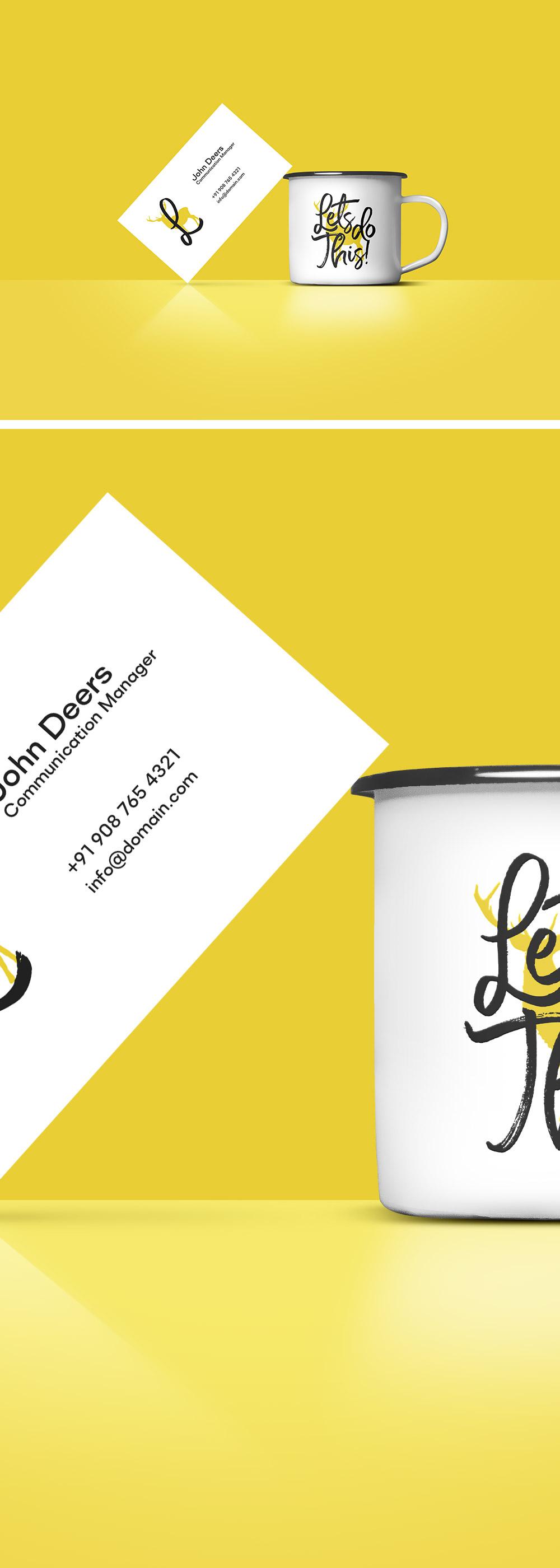Business Card & Free Coffee Cup MockUp