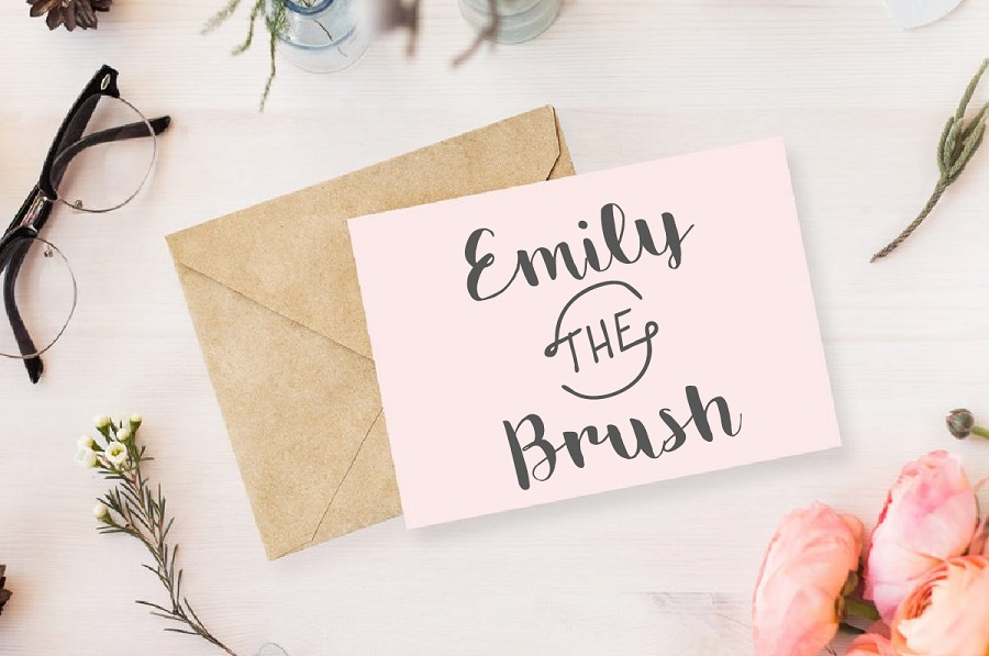Emily Free Brush Handwriting Font