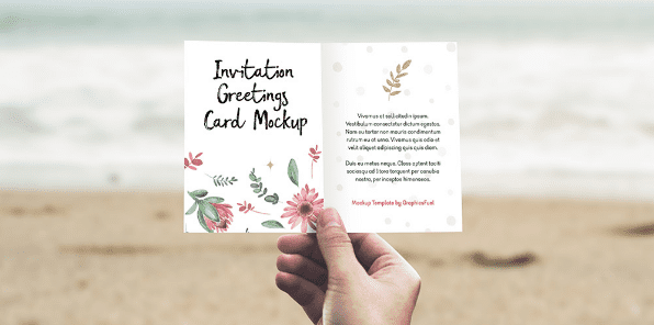 Invitation / Greeting Card PSD MockUp