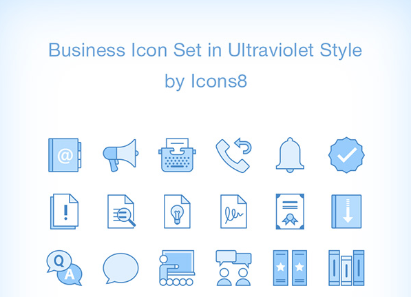 Set Of 60 Free Business Icons