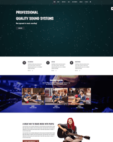 LT Recoric – Free Responsive Music Studio or Recording Studio Joomla template