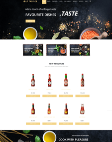 LT Taspice – Free Responsive Organic Food WordPress Theme