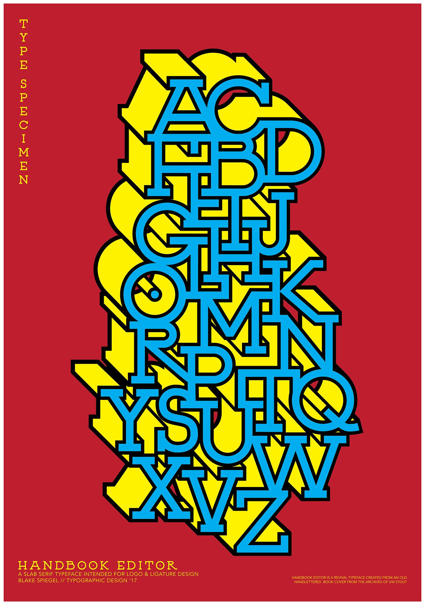 Handbook Editor Slab Serif Typeface