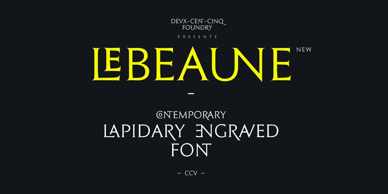 Le Beaune New Free Typeface