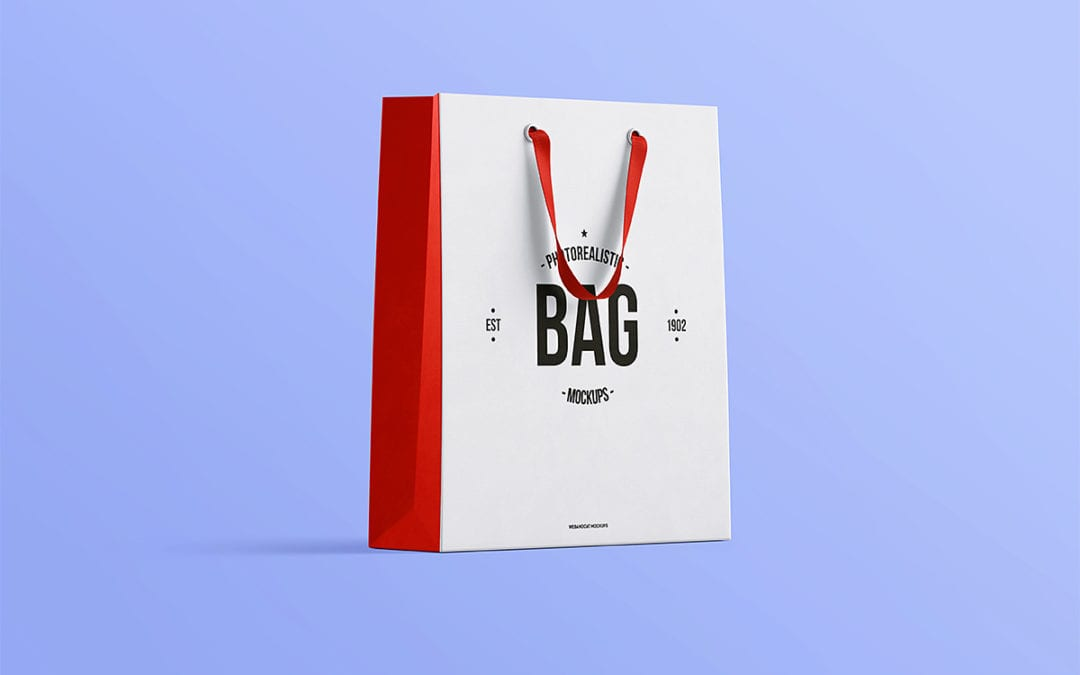 Photorealistic Shopping Bag PSD MockUp Template