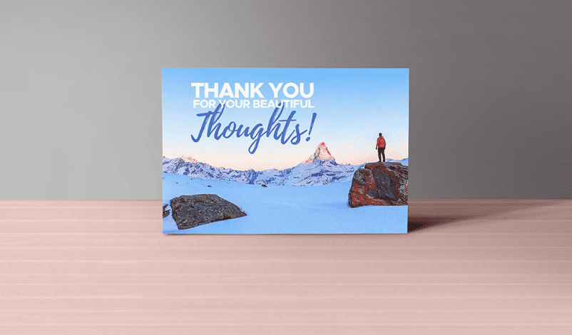 Thank You Notes Card Free PSD MockUp