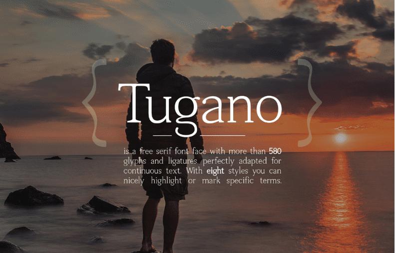 Tugano Serif Free Typeface