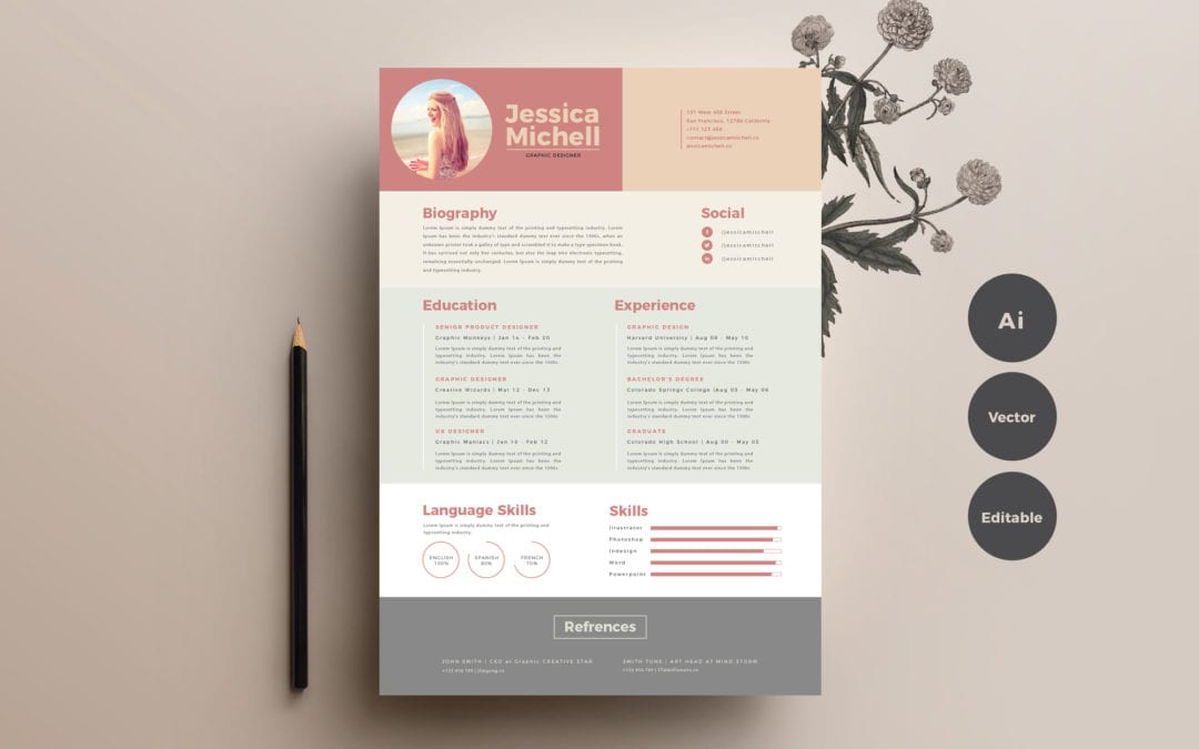 simple elegant free resume templates