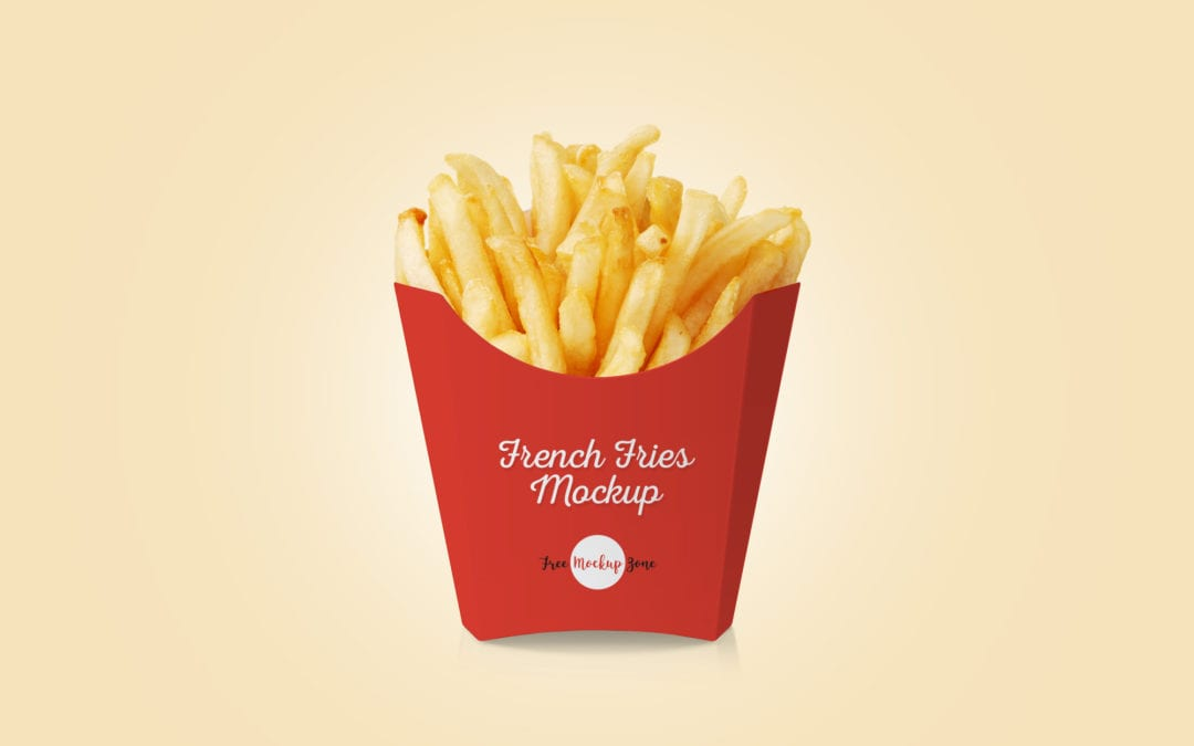 french fries packaging psd mockup template responsive joomla and