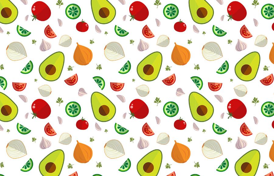 Set Of Guacamole Pattern Free Icons