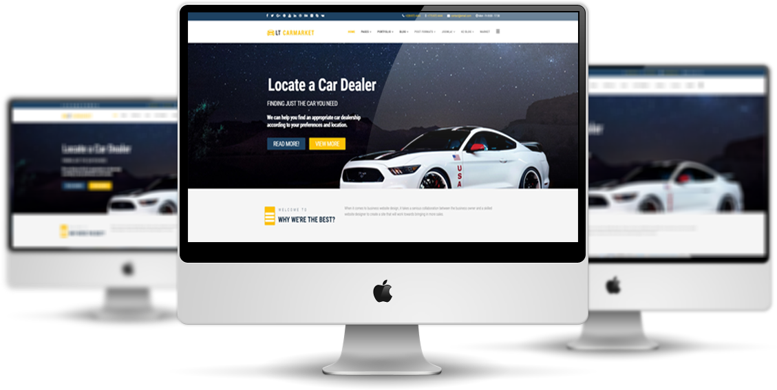 Lt Carmarket Free Business Joomla Template