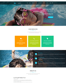 LT Swim – Free Responsive education wordpress themes