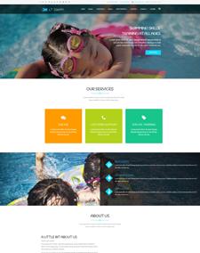 LT Swim Onepage – Free Single Page Responsive Swimming School Joomla template