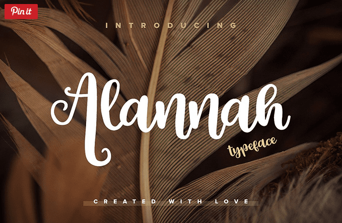 Alannah Free Script Typeface