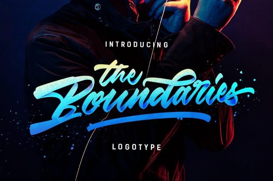 Boundaries Logotype Free Handmade Typeface
