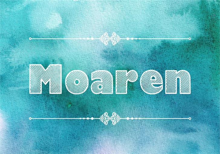 Moaren Handcrafted Font