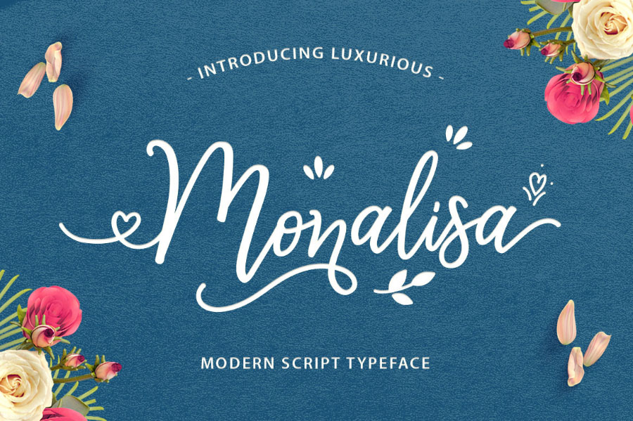 Monalisa Modern Free Script Typeface