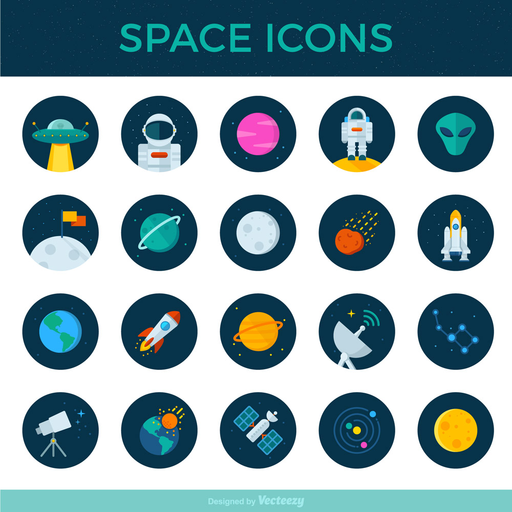 Set Of 20 Free Space Icons
