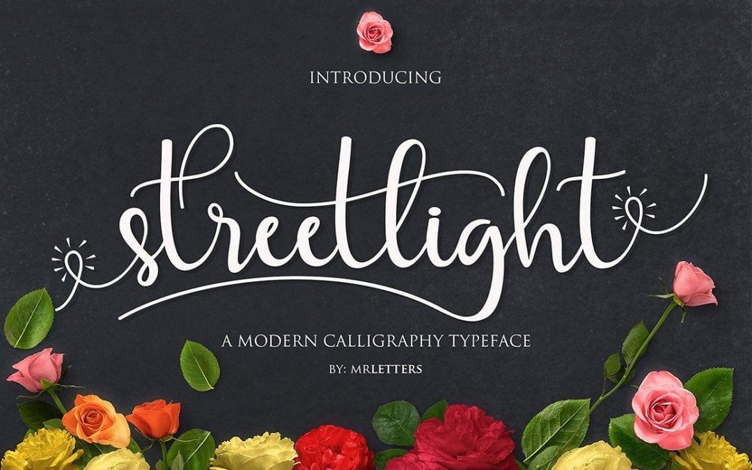Streetlight Free Script Typeface