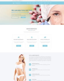 LT Surgery Single Page – Free Responsive One page Plastic Surgery WordPress Theme