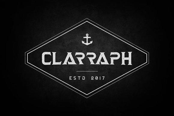 Clarraph DisplayTypeface