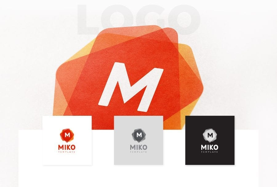 MIKO Logo Pattern Stationery Template