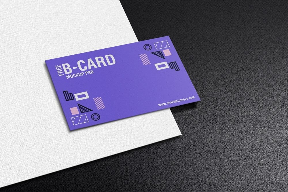 Texture Business Card PSD Mockup
