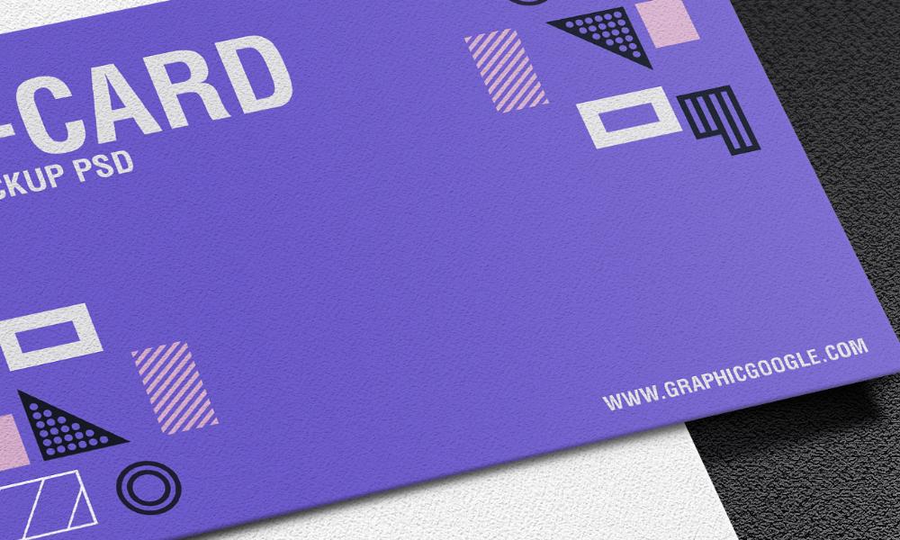 Texture Business Card PSD Mockup 1