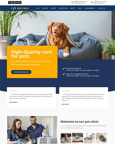 LT Anicare – Free Responsive medical wordpress theme