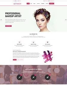 LT Makeup Single Page – Free Responsive One page Beauty Salon WordPress Theme