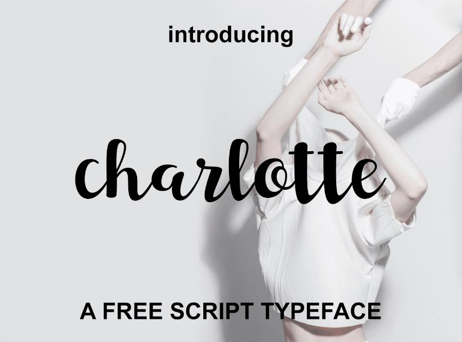 Charlotte Free Script Typeface