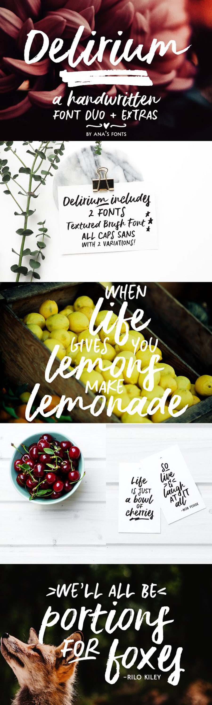 Delirium Brush Handwriting Font