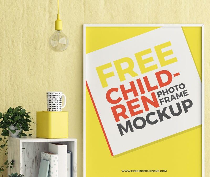 Children Room Free Photo Frame Mockup