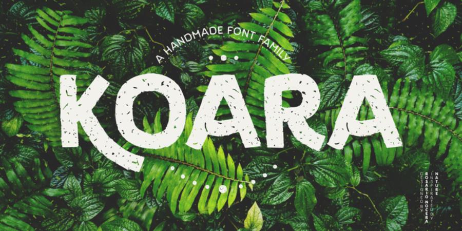 Koara Free Family Font