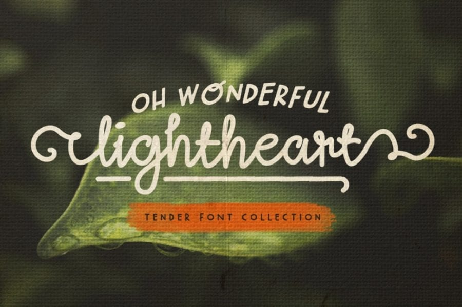 Lightheart Free Script Typeface