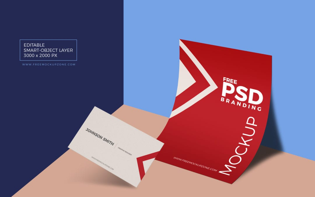 Paper Branding & Business Card MockUp PSD Template