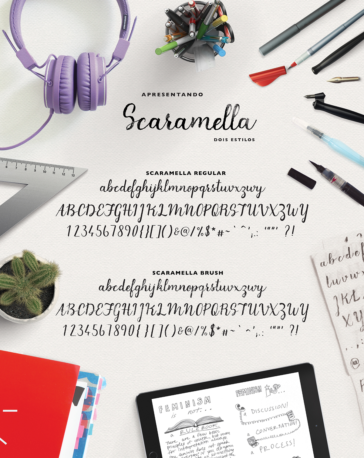 Scaramella Free Script Typeface