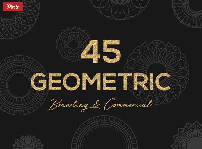 Set Of 45 Free Geometric Vector Shapes