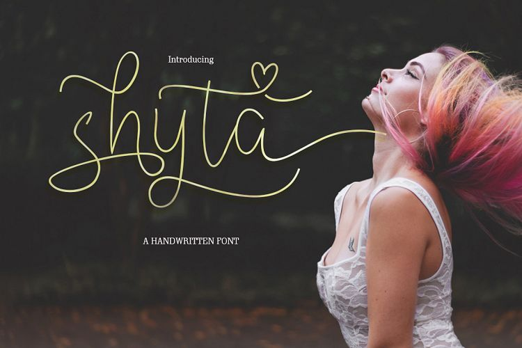 Shyta Handwritten Script Font