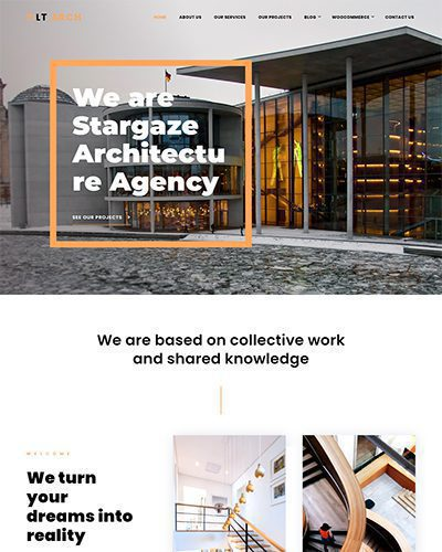 LT Arch Single Page – Free Landing page Architecture WordPress Theme