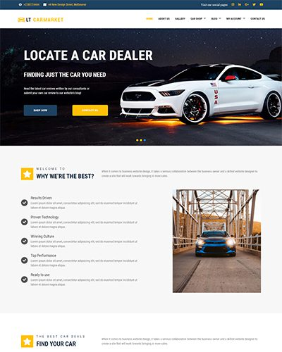 LT Carmarket – Free Responsive Car Dealer WordPress Theme