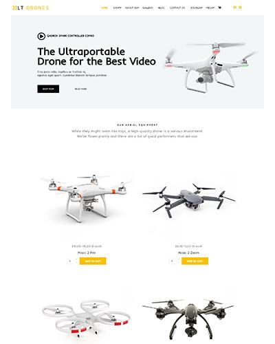 LT Drones – Free Responsive J2Store joomla templates sport