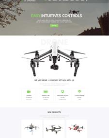 LT Drones – Free Responsive Drone WordPress Theme