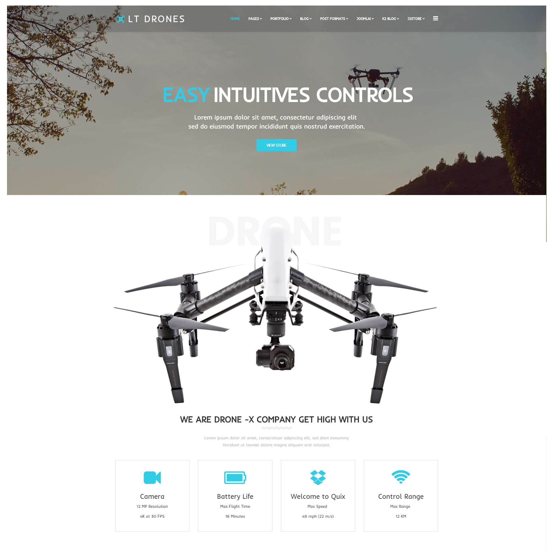 LT Drones – WordPress Theme