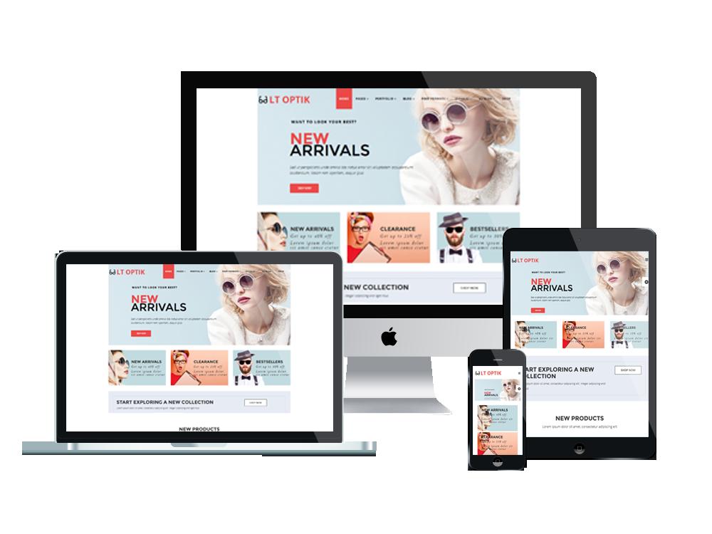 Wordpress Templates Responsive | Lt Optik Free Responsive Sunglasses Wordpress Theme