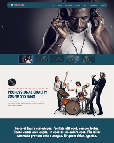 LT Recoric – Free Responsive Music WordPress Theme