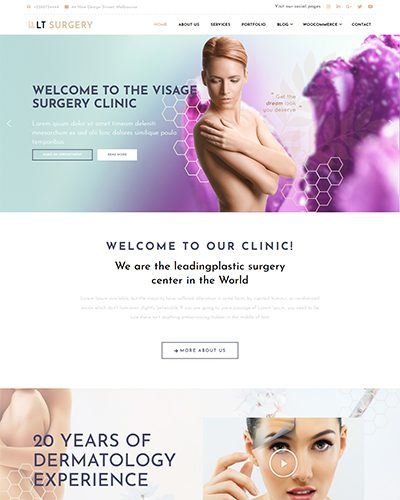 LT Surgery – Free Responsive medical wordPress theme