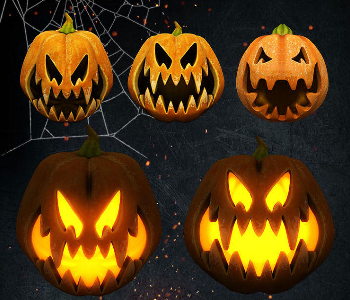 Halloween Pumkin 3D PSD MockUp - Responsive Joomla and Wordpress themes